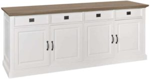 Richmond Interiors Dressoir oakdale 4-deurs 4-laden (Ral 9010) Ral 9010 Dressoir