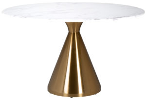 Richmond Interiors Eettafel Tenille 130Ø  (Brushed Gold) Brushed Gold Eettafel