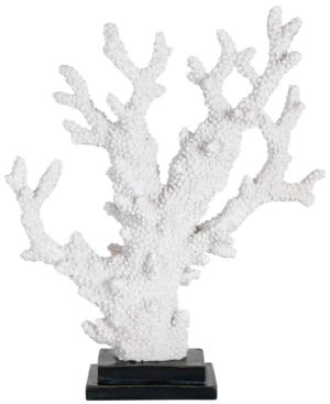 Richmond Interiors Faux koraal Adam (Wit) Wit Woonaccessoire