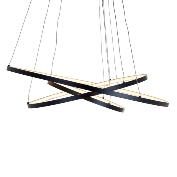 Richmond Interiors Hanglamp Amira black (Zwart) Zwart Woonaccessoire
