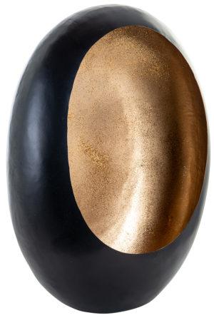 Richmond Interiors Kandelaar Civan zwart met goud glitter medium (Zwart) Zwart Woonaccessoire