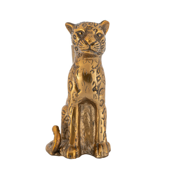 Richmond Interiors Kandelaar Lyle leopard  Woonaccessoire