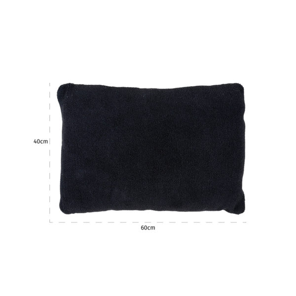 Richmond Interiors Kussen Teddy Black 40x60 (Zwart) Zwart Woonaccessoire