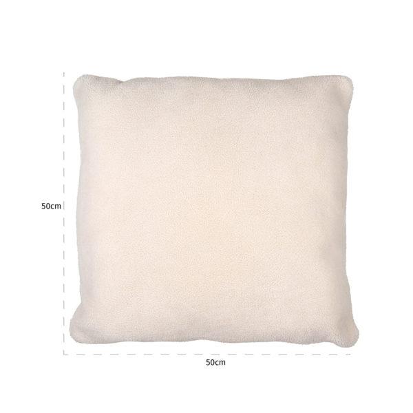 Richmond Interiors Kussen Teddy White 50x50 (White) White Woonaccessoire