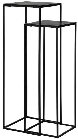 Richmond Interiors Pilaar Bolder set van 2 aluminium zwart (Zwart) Zwart Woonaccessoire