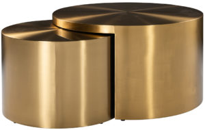 Richmond Interiors Salontafel Big & Rich set van 2 brushed gold (Brushed Gold) Brushed Gold Salontafel