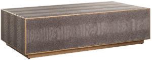 Richmond Interiors Salontafel Classio 150x80 Vegan Leather (Brushed Gold) Brushed Gold Salontafel