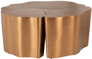 Richmond Interiors Salontafel Tree set van 3 (Brushed Gold) Brushed Gold Salontafel