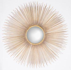 Richmond Interiors Spiegel Cass rond (Goud) Goud Woonaccessoire