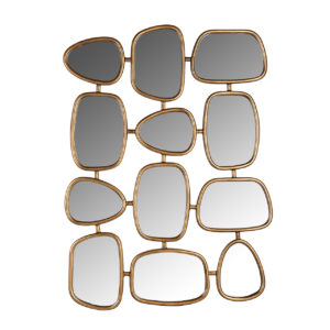 Richmond Interiors Spiegel Jeff met 12 spiegels (Goud) Goud Woonaccessoire
