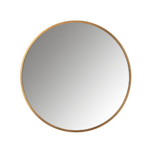 Richmond Interiors Spiegel Maesa goud 90Ø (Goud) Goud Woonaccessoire