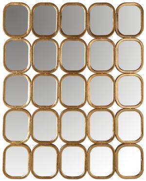 Richmond Interiors Spiegel Marila met 25 spiegels (Goud) Goud Woonaccessoire