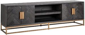 Richmond Interiors TV-dressoir Blackbone brass 4-deuren 200 (Brushed Gold) Brushed Gold Dressoir