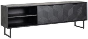 Richmond Interiors TV-dressoir Blax 2-kleppen 1-plank (Zwart) Zwart Dressoir