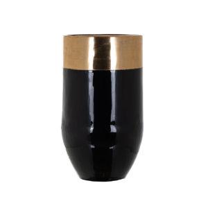 Richmond Interiors Vaas Loyd (Zwart/goud) Zwart/goud Woonaccessoire