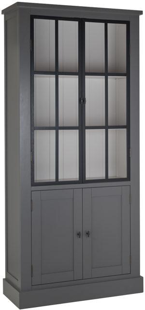 Richmond Interiors Vitrine Cascade 2x2-deuren (metalen deuren)