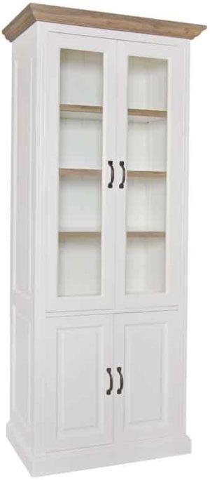 Richmond Interiors Vitrine Oakdale 2x2-deuren 3-planken (Ral 9010) Ral 9010