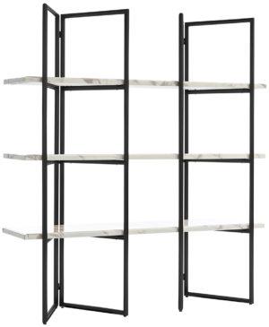 Richmond Interiors Wandkast Lagrand Black met 3 planken  (Zwart) Zwart Wandkast|Kast