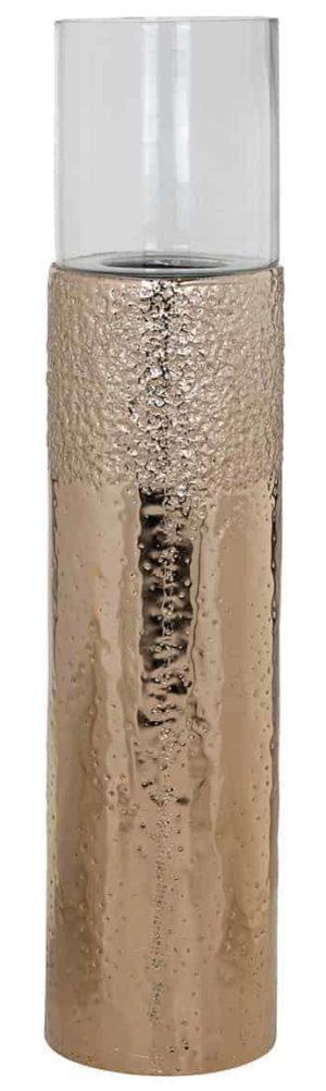 Richmond Interiors Windlicht Barey op standaard (Champagne gold) Champagne gold Woonaccessoire