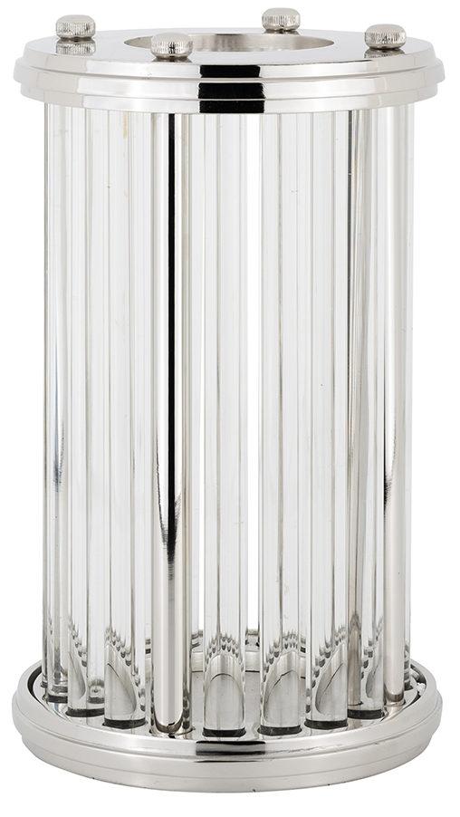 Richmond Interiors Windlicht Emeray zilver medium (Zilver) Zilver Woonaccessoire