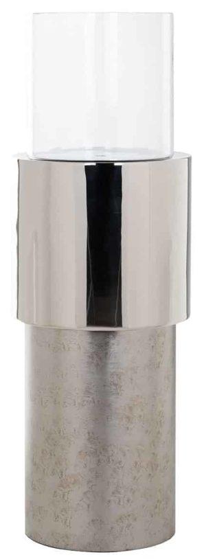 Richmond Interiors Windlicht Orvyn zilver klein (Zilver) Zilver Woonaccessoire