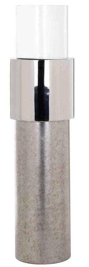 Richmond Interiors Windlicht Oxley zilver groot (Zilver) Zilver Woonaccessoire