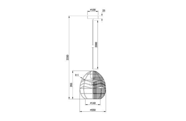 WOOOD Adelaide Hanglamp Zwart Ø25cm Black Lamp
