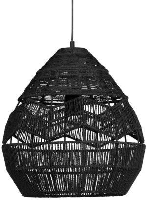 WOOOD Adelaide Hanglamp Zwart Ø35cm Black Lamp