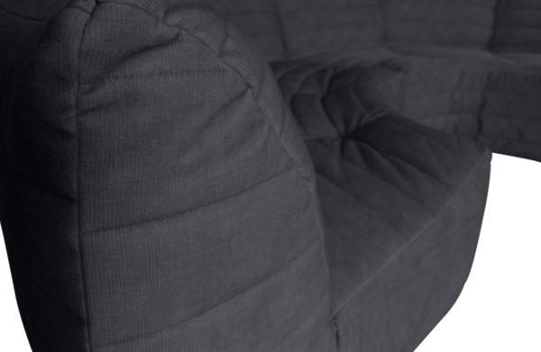 WOOOD Bag Hoekelement Fluweel Antraciet Anthracite Bank