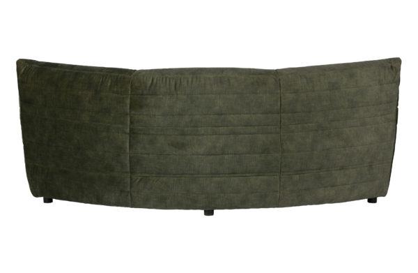 WOOOD Bag Hoekelement Fluweel Groen Green Bank