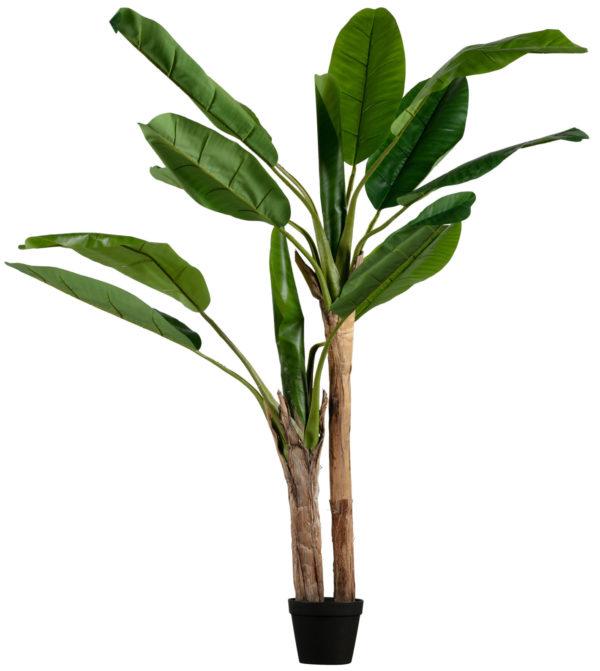 WOOOD Bananenplant Kunstplant Groen 138cm Green Woonaccessoire
