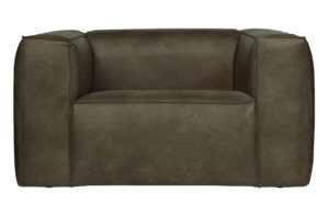 WOOOD Bean Fauteuil Army Green Bank