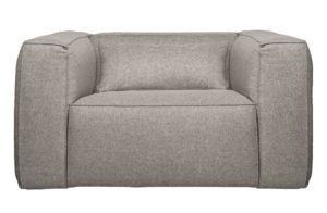 WOOOD Bean Fauteuil Incl. Kussen Lichtgrijs Gemeleerd Light grey Bank