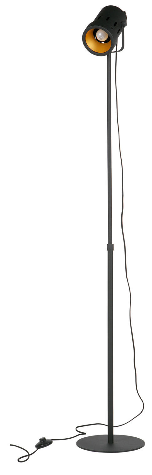 WOOOD Bente Staande Lamp Metaal Zwart Black Lamp