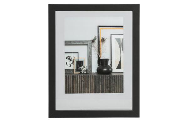 WOOOD Blake Fotolijst Met Houten Rand Zwart 50x40 Black Woonaccessoire