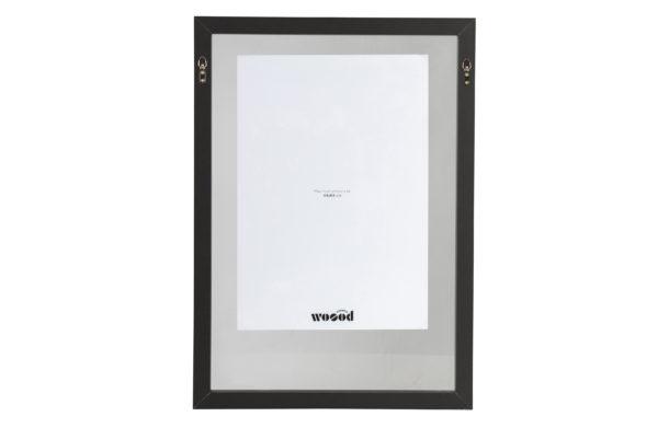 WOOOD Blake Fotolijst Met Houten Rand Zwart 70x50 Black Woonaccessoire
