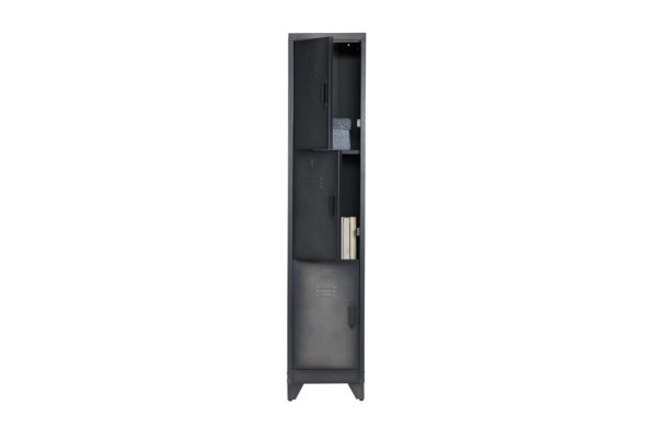 WOOOD Cas Lockerkast 3drs Metaal Zwart Black Kast