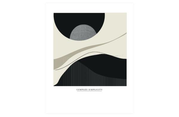 WOOOD Complex Simplicity Poster 50x70cm Various Woonaccessoire