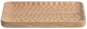 WOOOD Dante Dienblad Hout Naturel 31x25cm Natural Woonaccessoire