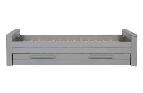 WOOOD Dennis Bed 90x200cm Grenen Betongrijs Geborsteld Concrete grey Ledikant