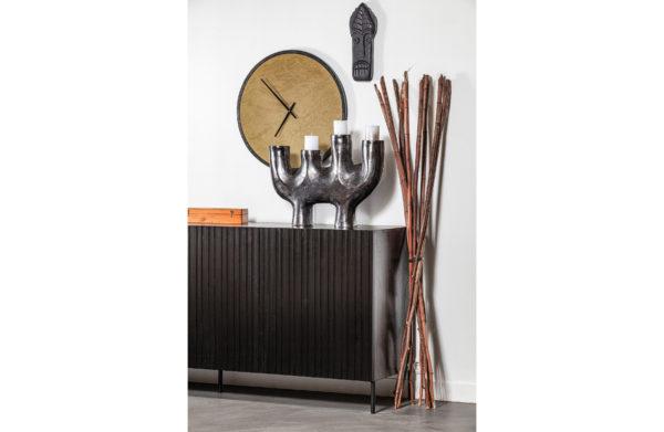 WOOOD Dex Kaarsenstandaard Metaal Zwart 60cm Black Woonaccessoire