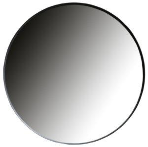 WOOOD Doutzen Spiegel Metaal Zwart Ø115cm Black Woonaccessoire