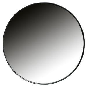 WOOOD Doutzen Spiegel Metaal Zwart Ø50cm Black Woonaccessoire