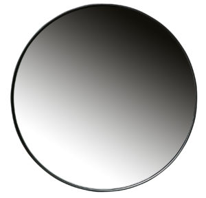 WOOOD Doutzen Spiegel Metaal Zwart Ø80cm Black Woonaccessoire