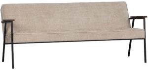 WOOOD Elizabeth Sofa Structure Velvet Naturel Natural Bank