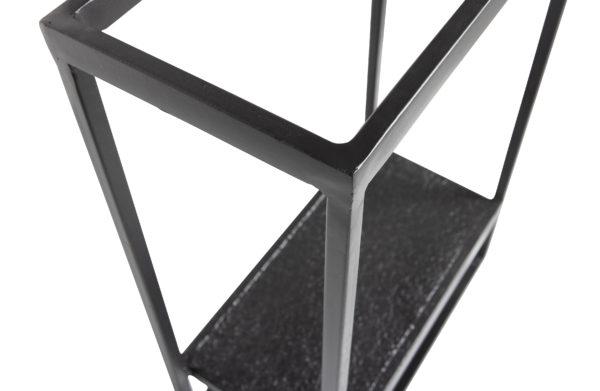 WOOOD Febe Wandrek Verticaal Metaal Zwart Black Woonaccessoire