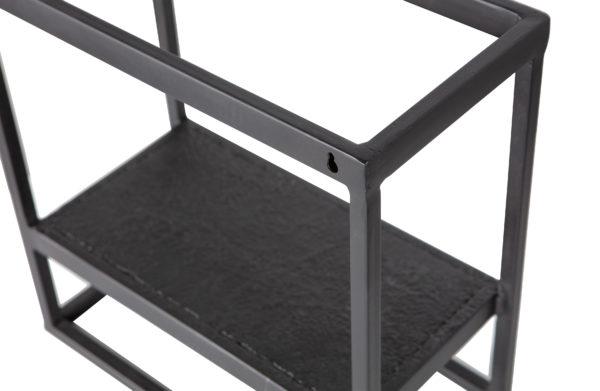 WOOOD Febe Wandrek Vierkant Metaal Zwart Black Woonaccessoire