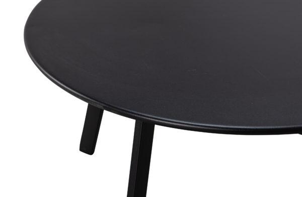 WOOOD Fer Bijzettafel Metaal Zwart Ø70cm Black Eettafel