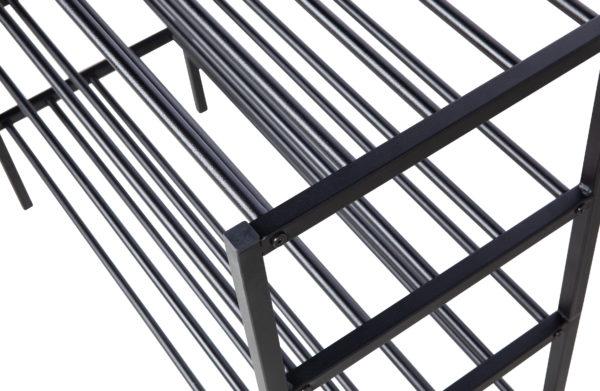 WOOOD Ferro Schoenenrek Metaal Zwart Black Kast