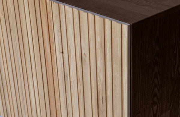 WOOOD Gravure Dressoir Korpus Bruin En Deuren Naturel Brown/natural Kast